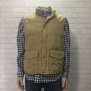 Vintage 80s Woolrich Tan Puffer Vest Medium Men's